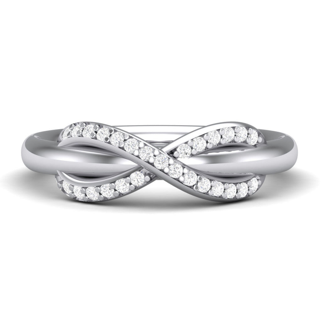 8ff945c632e Infinity Platinum Ring with Diamonds for Women JL PT 460
