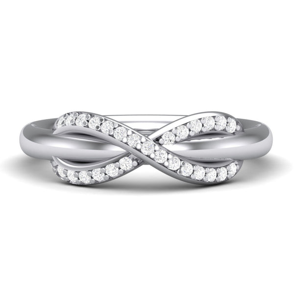 Platinum Diamond Rings in India - Infinity Platinum Ring With Diamonds For Women JL PT 460