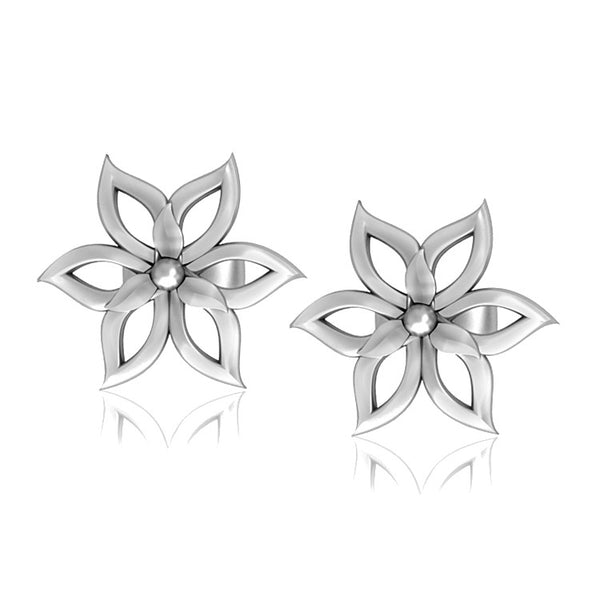 Platinum Earrings For Kids Flower Design JL PT E 164