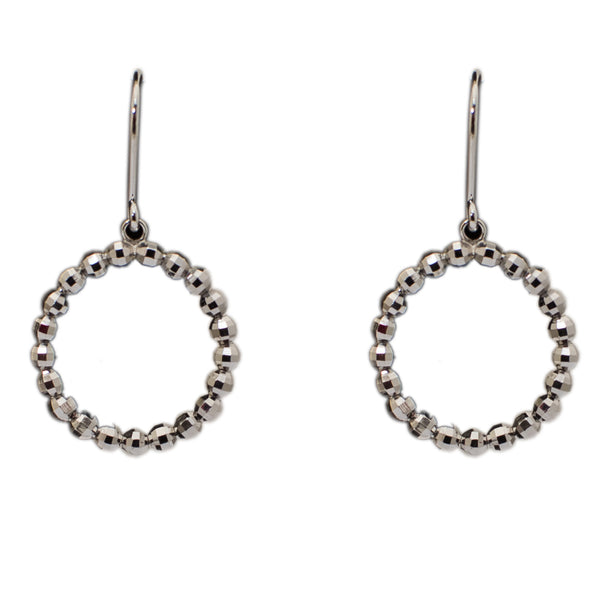 Platinum Earrings in India - Light Weight Platinum Earrings With Diamond Cut For Women JL PT E 161 Made In Japan