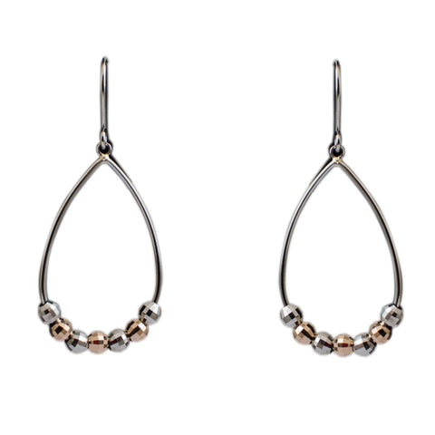 Platinum Earrings in India - Light Weight Platinum & Rose Gold Earrings For Women JL PT E 160 Made In Japan