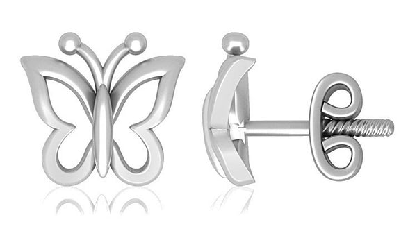 Platinum Earrings For Kids Butterfly Design JL PT E 163