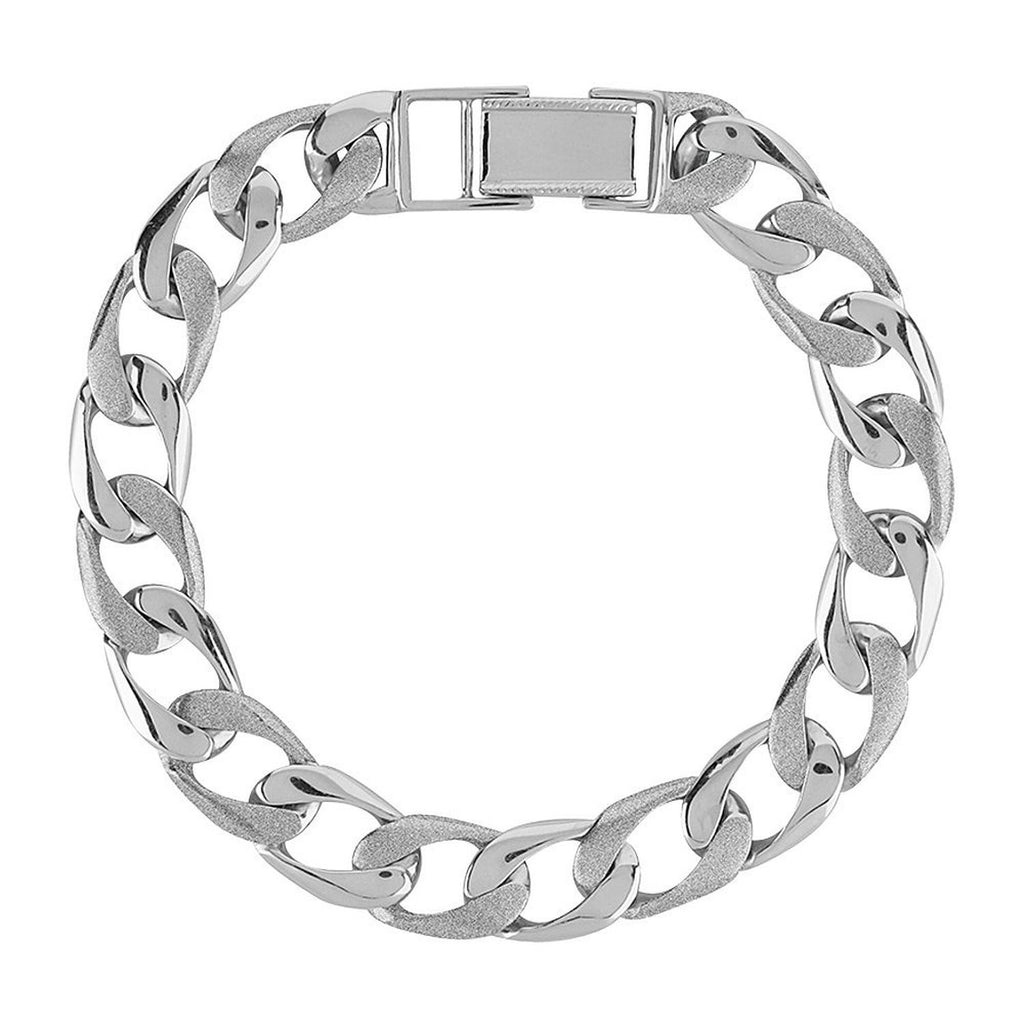 Platinum Men's Bracelets In India - Plain Platinum Bracelet For Men JL PTB 613