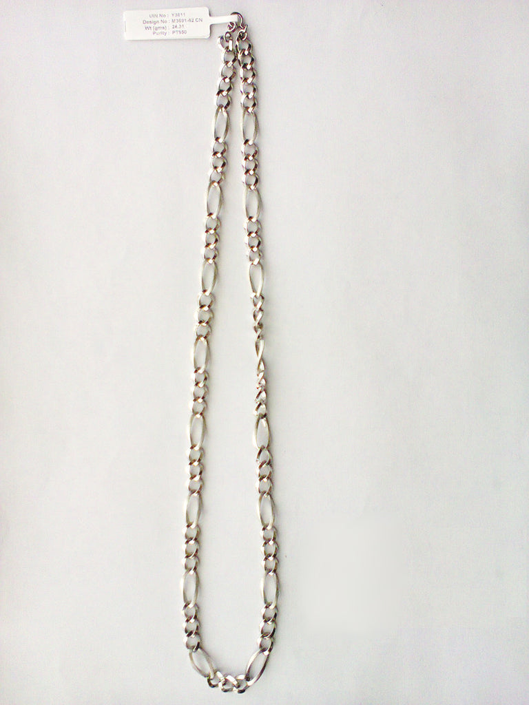 necklace chain chains inches plain gold flat psx