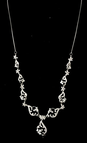 Platinum Necklaces in India - Super Sale - Platinum Necklace With Diamonds JL PT N35