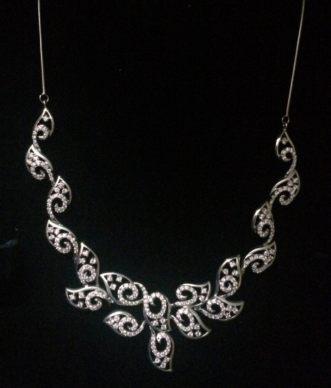 Platinum Necklaces - Super Sale - Heavy Platinum Necklace With Diamonds JL PT N36