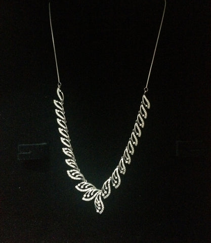 Platinum Necklaces in India - Super Sale - Platinum Necklace With Diamonds JL PT N33