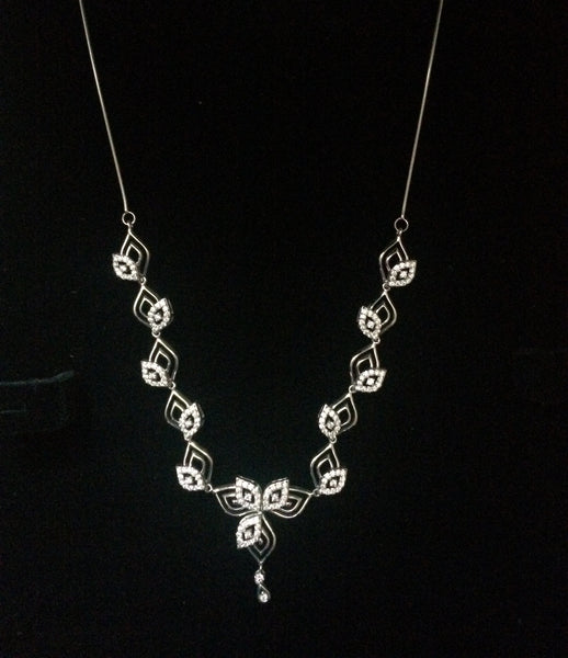 Platinum Necklaces in India - Super Sale - Platinum Necklace With Diamonds JL PT N34