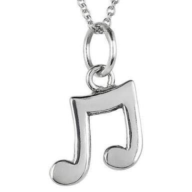 Platinum Pendants in India - Plain Pendant Musical Note Pendant JL PT E 157