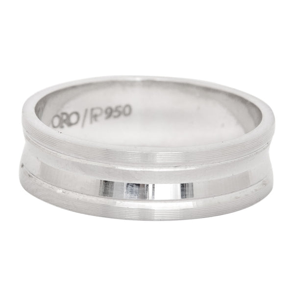 Platinum Rings in India - 5mm Plain Platinum Ring With An Inside Curve For Men JL PT 411