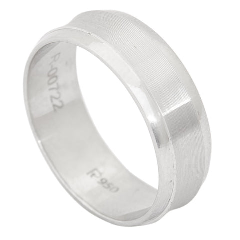 Platinum Rings in India - 6mm Plain Platinum Ring With Line Texture For Men JL PT 410