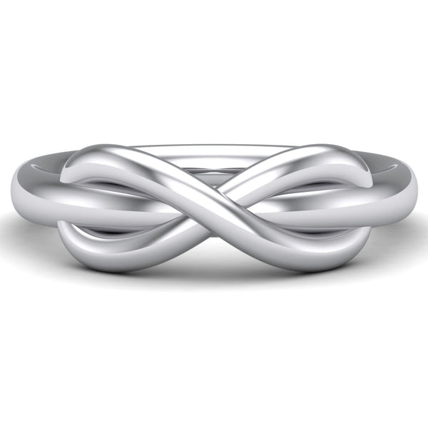 Platinum Rings - Infinity Plain Platinum Ring For Men JL PT 459 Table View