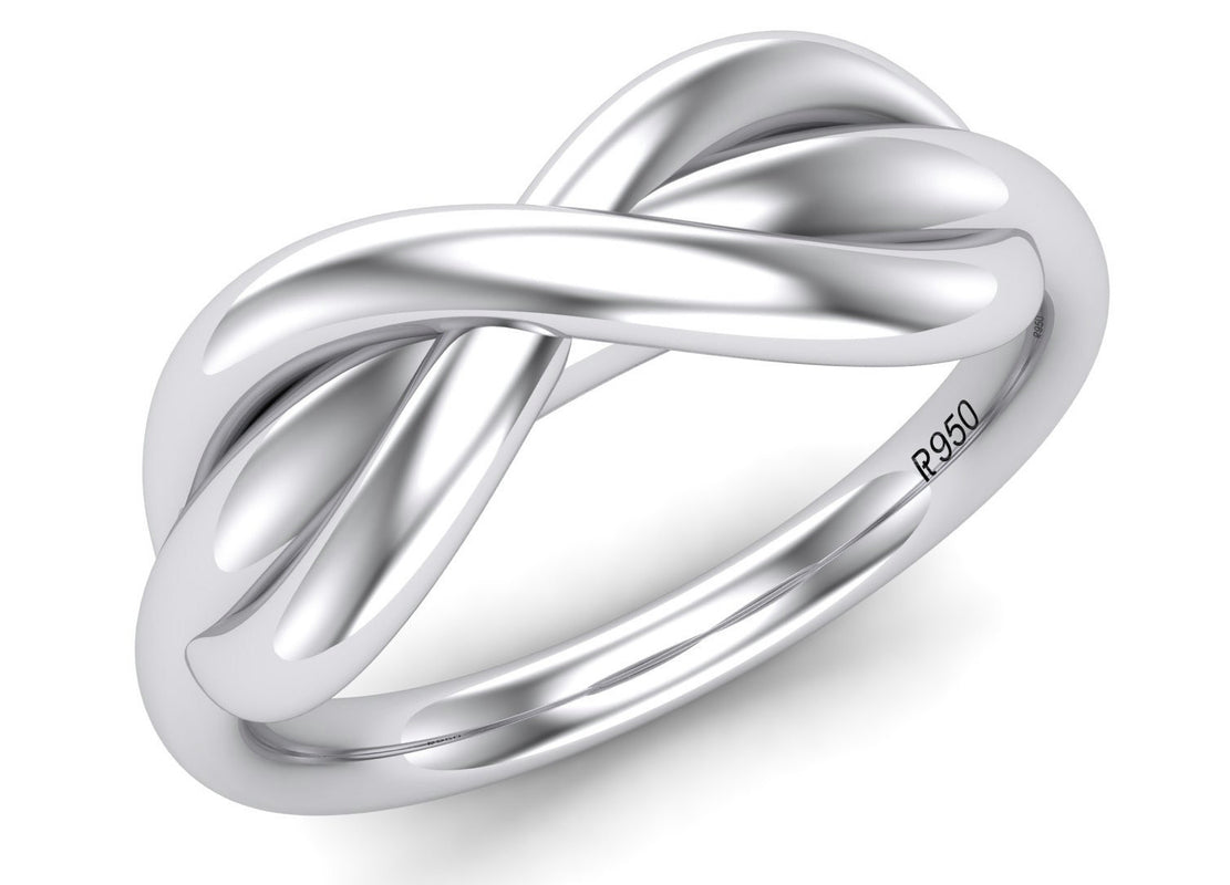 Platinum Rings - Infinity Plain Platinum Ring For Men JL PT 459 3D View