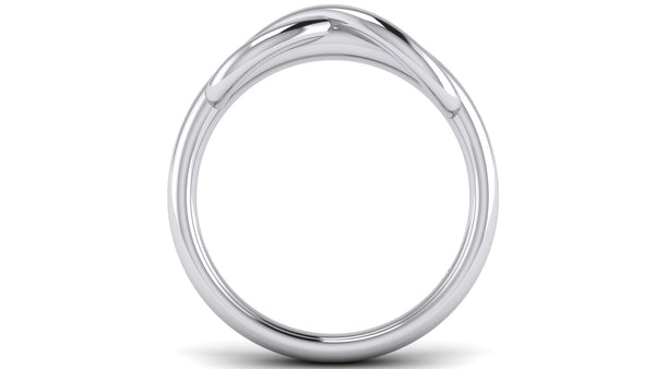 Platinum Rings - Infinity Plain Platinum Ring For Men JL PT 459 Circle View