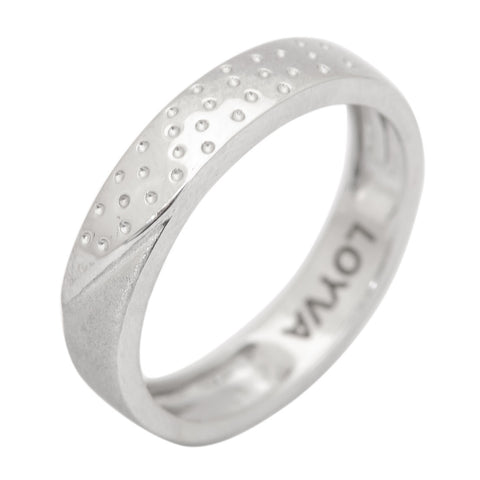 Platinum Men Rings in India - Starry Night Plain Platinum Ring With For Men With Matte Finish JL PT 405