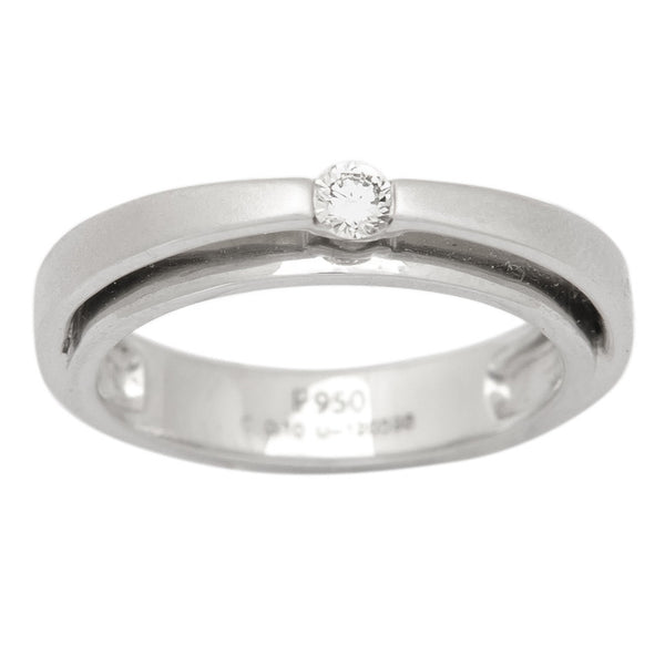 Platinum Diamond Rings - Super Sale - JL PT 409 Platinum Diamond Ring For Women In Ring Size 11