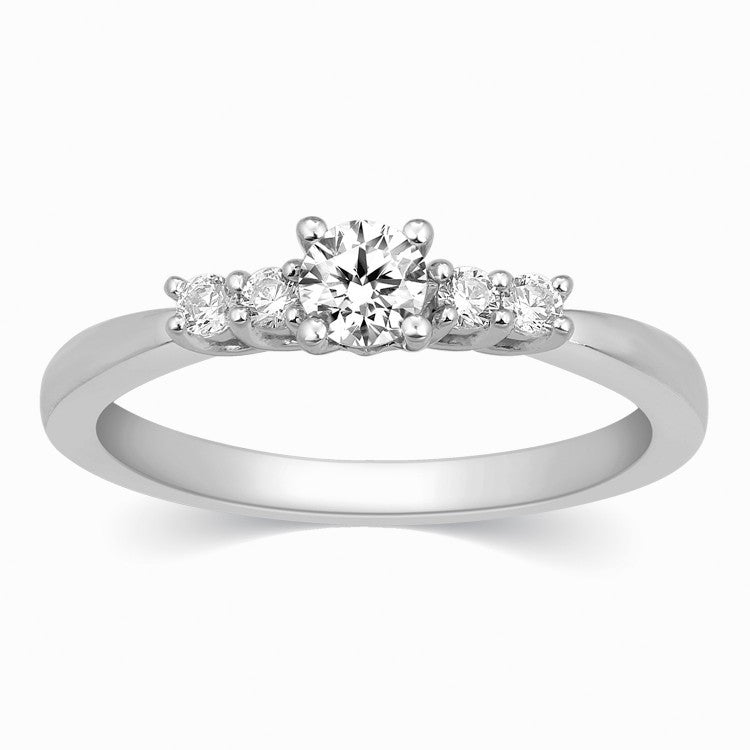 Platinum Solitaire Rings in India - 30 Pointer Solitaire Platinum Ring With Diamond Accents For Women JL PT 323