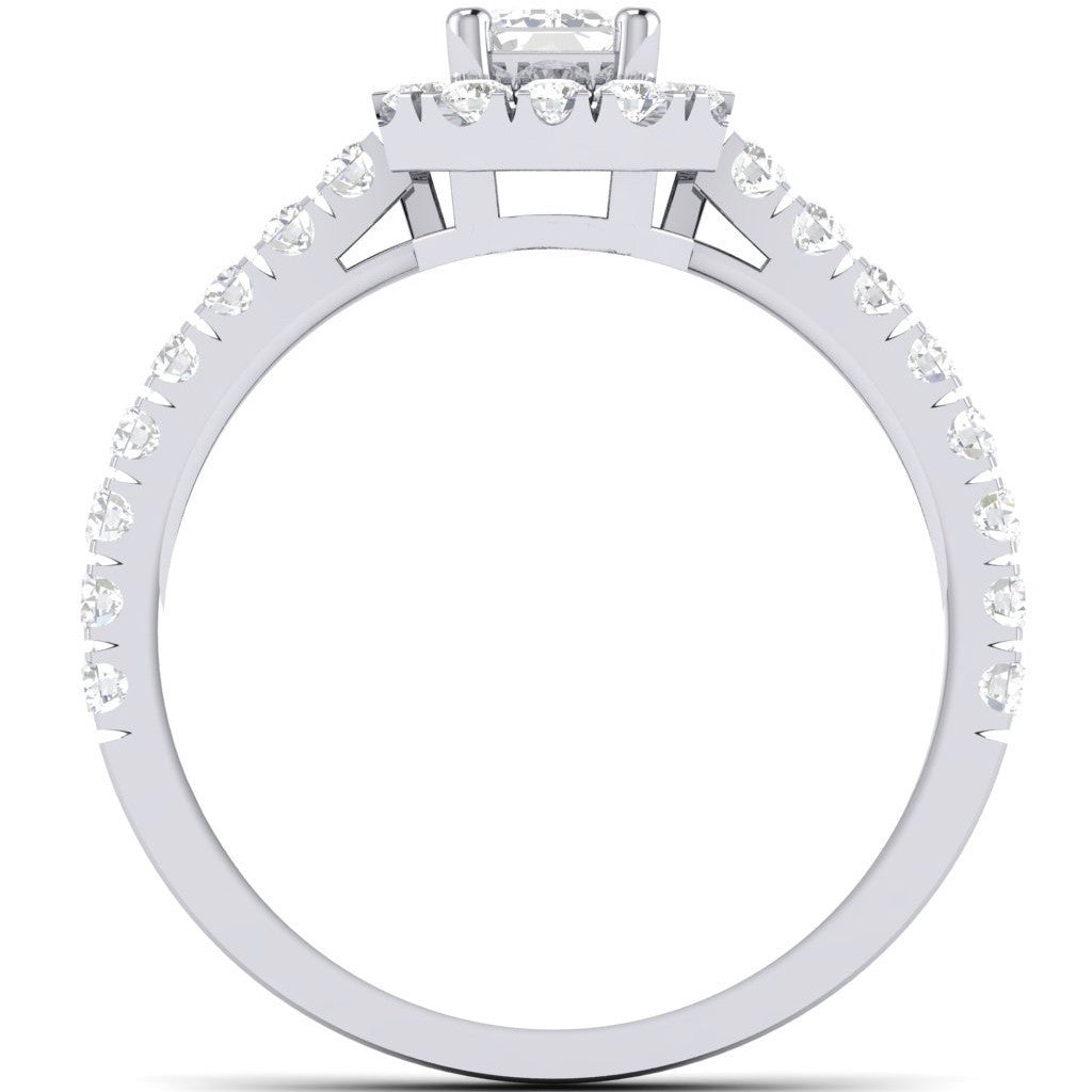 cocktail design ring pave bypass setting diamond rings
