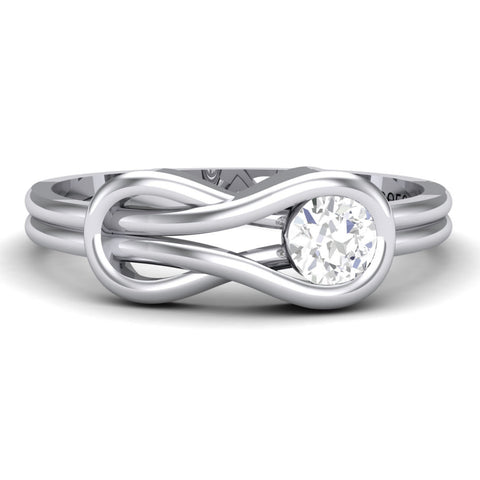 Platinum Solitaire Rings in India - Infinity Platinum Solitaire Ring For Women JL PT 468 Table View