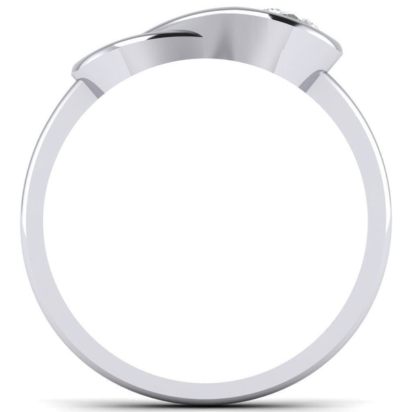 Platinum Solitaire Rings in India - Infinity Platinum Solitaire Ring For Women JL PT 468 Circle View