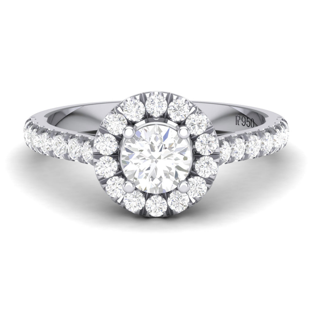 rings emerald baguette engagement white cut cluster kaplan ring diamond gold arthur split halo claw products shank