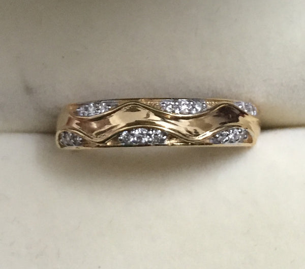 Rings - 18K Gold Ring With Diamonds For Women Super Sale JL AU 119