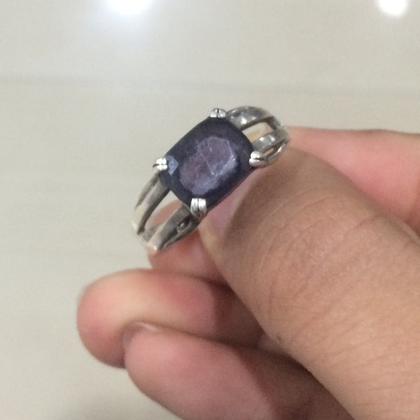 Rings - Custom Made Platinum Ring With Color Stone
