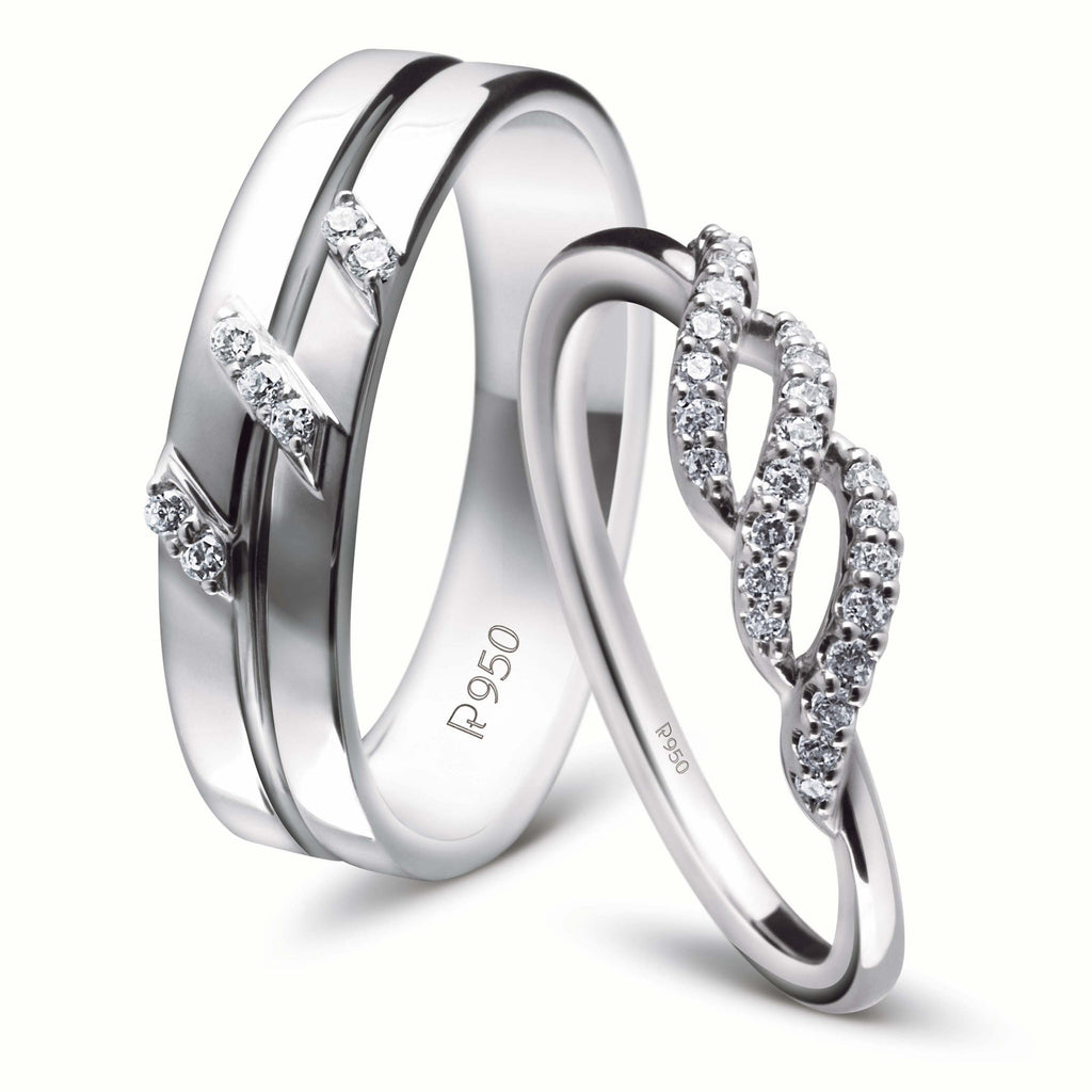 designer platinum couple rings with diamonds jl pt 452 – jewelove™