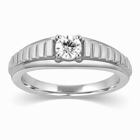 Designer Solitaire Platinum Engagement Ring for Men SJ PTO 313 in India