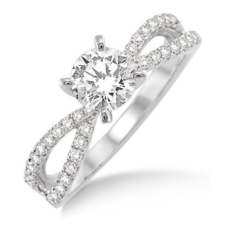 Designer Solitaire Ring made in Platinum SJ PTO 285 in India