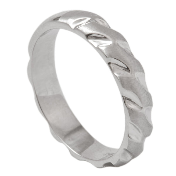 Designer Tiger Claws Plain Platinum Band for Men SJ PTO 290 in India