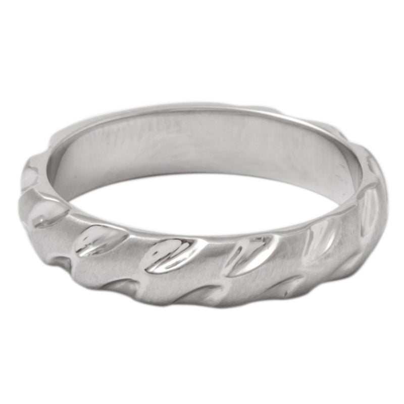 Designer Tiger Claws Plain Platinum Band for Men SJ PTO 290 - Suranas Jewelove  - 2