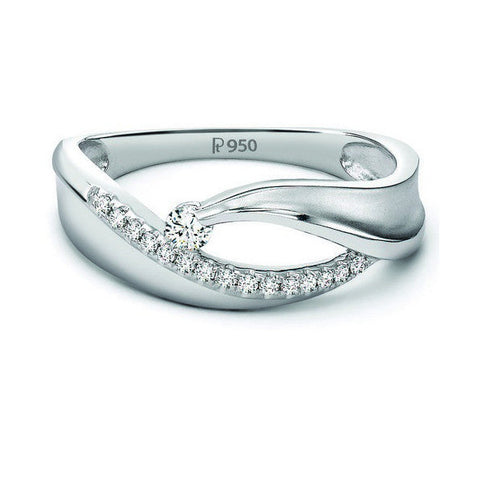 Elegant Platinum Ring with Diamonds by Jewelove JL PT 508 in India
