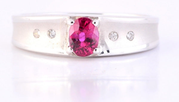 Fine Burmese Ruby & Diamond Ring JL R 106 in India