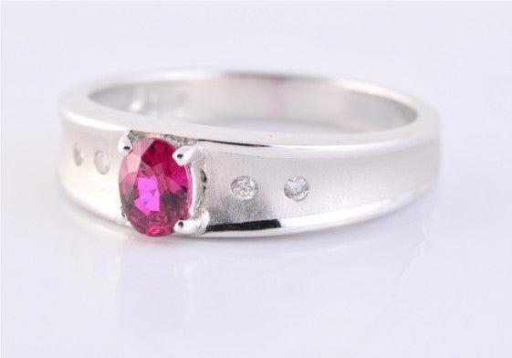 Fine Burmese Ruby & Diamond Ring JL R 106 - Suranas Jewelove  - 2