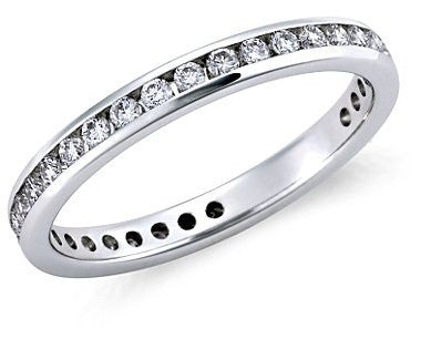 Full Eternity Platinum Wedding Band with Diamonds JL PT 24 in India