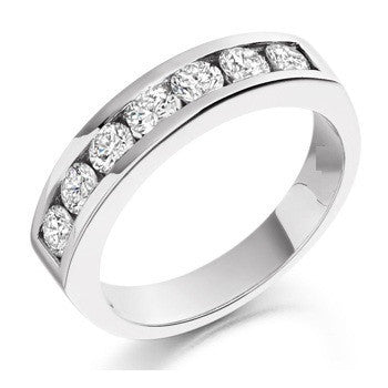 Half Eternity Platinum Band with 7 pointer Diamonds SJ PTO 245 in India