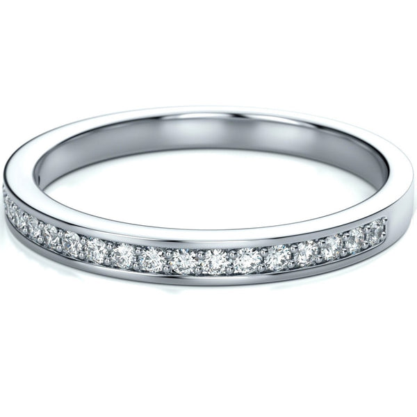 c03217c56d400 Half Eternity Platinum Band with Diamonds set in Channel Setting SJ PTO 244  – Jewelove™