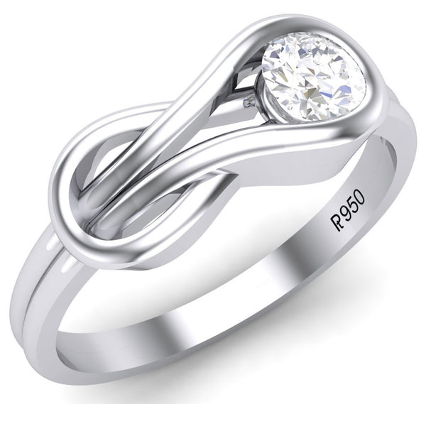 Platinum Solitaire Rings in India - Infinity Platinum Solitaire Ring For Women JL PT 468