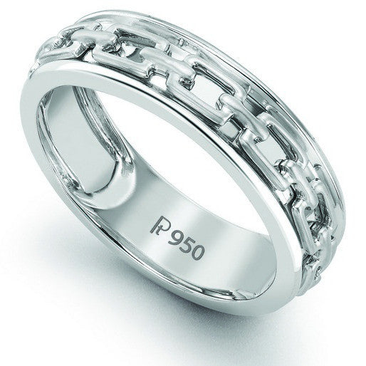 Men's Plain Platinum Wedding Band SJ PTO 230 - Suranas Jewelove