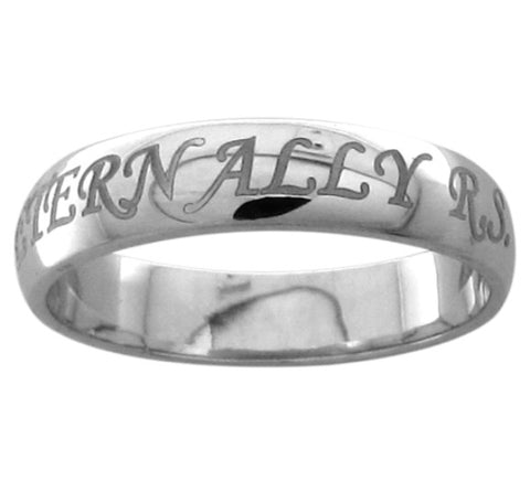 Name Engraved Platinum Bands SJ PTO 228 - Suranas Jewelove  - 1