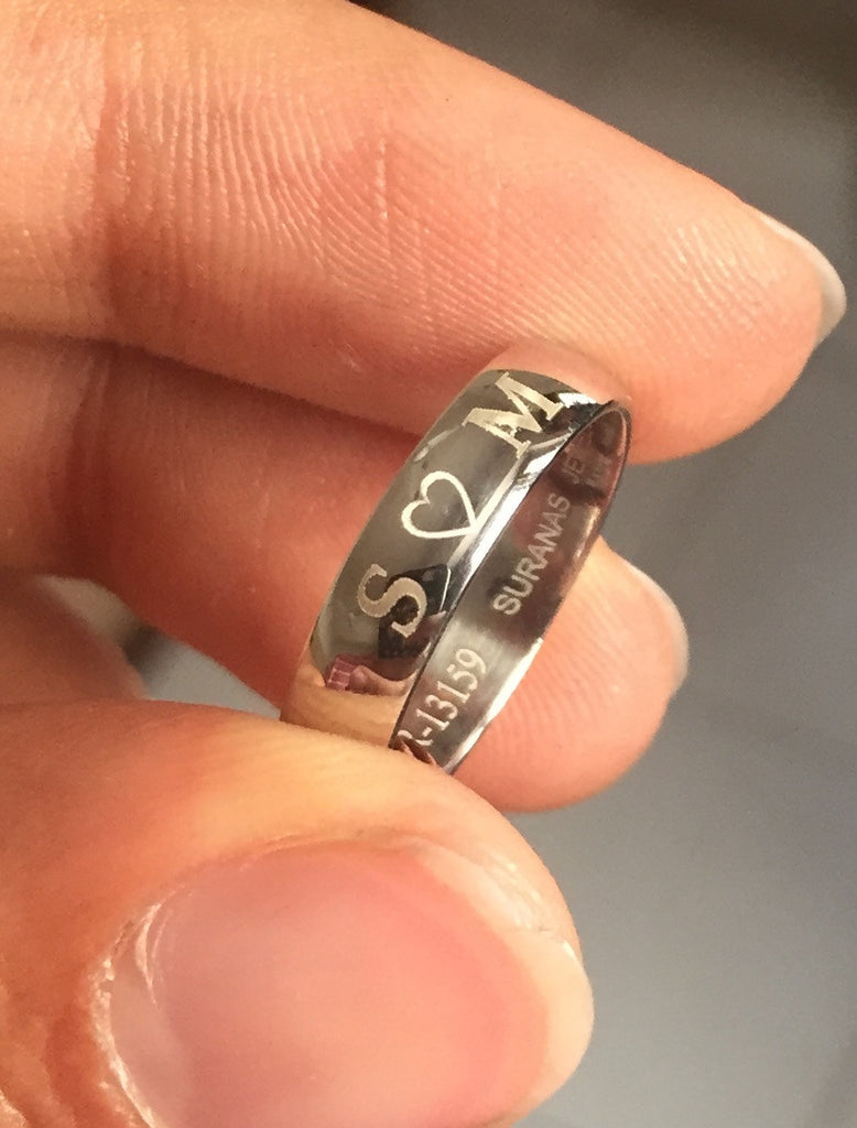 rings numerals band inside anniversary roman bands latest customized view ring gold wedding