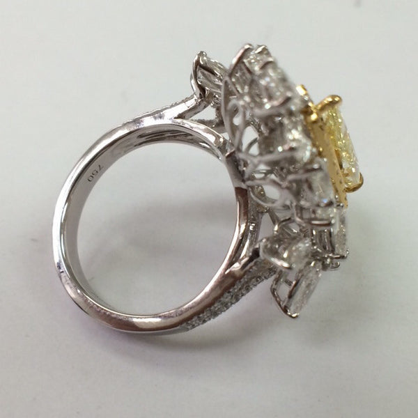 Natural Fancy Color Yellow Diamond Designer Solitaire Ring SKU 14 - Suranas Jewelove  - 4