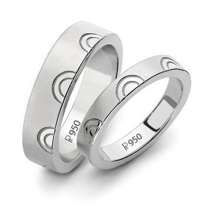 Plain Platinum Love Bands SJ PTO 133 - Suranas Jewelove