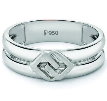 Plain Platinum Ring for Men JL PT 511 - Suranas Jewelove