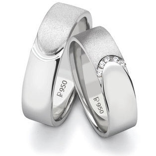Platinum Love Bands SJ PTO 124 - Suranas Jewelove