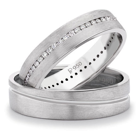 Platinum Love Bands with Neo Full Eternity SJ PTO 105 - Suranas Jewelove