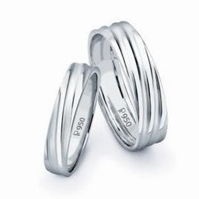 Classic Platinum Love Bands SJ PTO 104 A · Platinum Couple Rings Bands  Without Diamonds ...