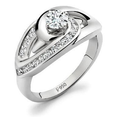Platinum Solitaire Ring by Jewelove JL PT 501 - Suranas Jewelove