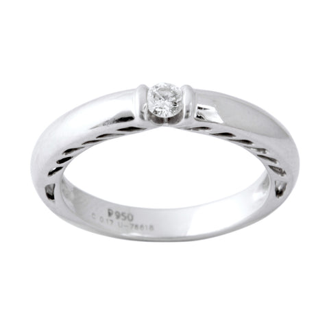 Platinum Solitaire Ring for Men by Jewelove JL PT 401 - Suranas Jewelove  - 1
